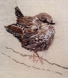 ♒ Enchanting Embroidery ♒ embroidered wren