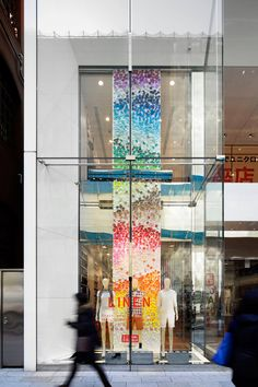 Colorful Wind installation by Emmanuelle Moureaux for UNIQLO