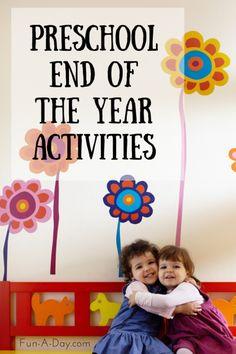 10+ End of the School Year Activities for Preschool and Kindergarten