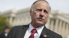 """""""The president is throwing this nation into a crisis,"""" Rep. Steve King told reporters."""