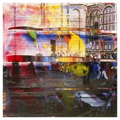 Gerhard Richter - Overpainted Photographs Mixed Media Photography, Paint Photography, Fine Art Photography, Painting On Photographs, Gerhard Richter Painting, Florence Art, Architecture Model Making, Jean Arp, Pictures To Draw