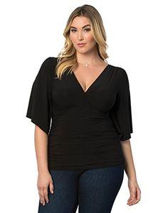 112c7cf493f97 Kiyonna Women s Plus Size Keira Kimono Sleeve Top at Amazon Women s  Clothing store  Fashion T Shirts