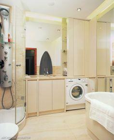 Jak zabudować pralkę w łazience? Urządzamy łazienkę: zabudowa pralki - zdjęcia