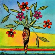 Mademoiselle, Danielle Champoux  #Art #Artwork #Artist #painting #painter #Peinture #peintre #Flowers #Fleurs #nature #HomeDecor #Quebec #Canada Flower Artwork, Mademoiselle, Oeuvre D'art, Canada, Symbols, Painting, Colours, Artist, Flowers