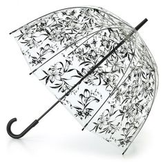 Clear Dome umbrella with lily flowers image