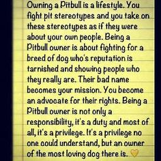 Only pit bull owners understand
