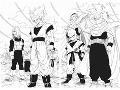 Dragon Ball - Vol. 395 The Entire Group Gathers! Dbz Manga, Manga Dragon, Dragon Ball Gt, Sailor Moon, Fan Art, Son Goku, Anime Comics, Akira, Character Design