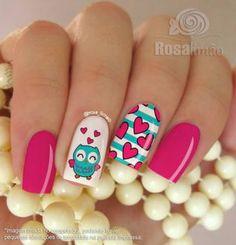 Resultado de imagen para modelos de uñas cortas con dibujos de buho