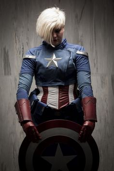 imatangelo  is Captain America | Photo by Joey Miller (This is the best Captain America cosplay I've ever seen, lady or dude)