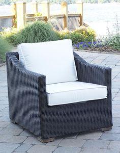 Patio Wicker Outdoor Portafina Chair: Black Forest Finish #black #wicker # Chair Pin
