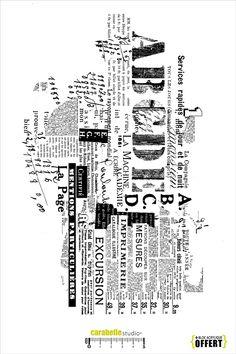 Tampon XXL : Texture Texte - Art Stamp