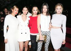 Hailey Baldwin, Bella Hadid, Cara Delevingne, Kendall Jenner & Gigi Hadid - Chanel Party Yacht event in New York City March 30, 2015.