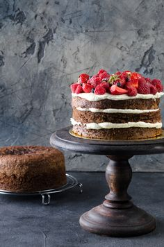 Naked Cake: la torta è nuda! Peace Of Cake, Cakes And More, Fine Dining, Wine Recipes, Chocolate Cake, Bakery, Gluten Free, Cooking, Healthy