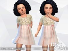 Little Princess Dress Found in TSR Category 'Sims 4 Toddler Female'