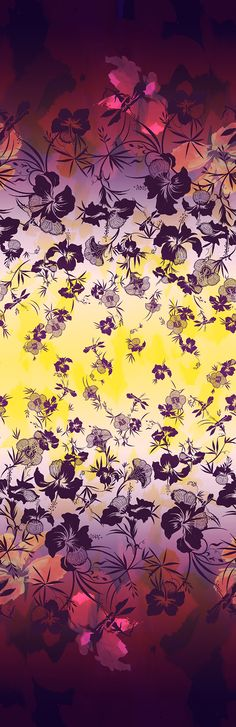 The Matthew Williamson Hibiscus Flower Print for SS15 in citrus and damson | House of Beccaria#