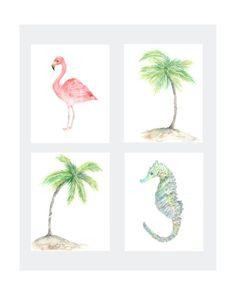 Tropical prints, beach print, tropical decor, beach wall art, tropical wall art…