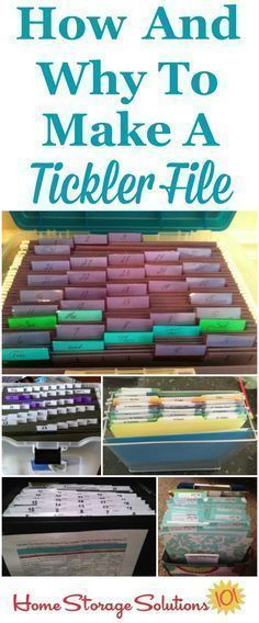 How and why to create a tickler file to organize paperwork, including lots of examples and variations submitted by readers who got their papers organized {on Home Storage Solutions 101} #cluttersolutions