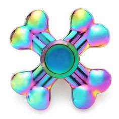 Colorful Rotating Four Leaves Fidget Hand Spinner ADHD Autism Reduce Stress Focus Attention Toys Sale - Banggood Mobile