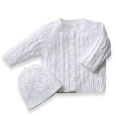 Cable Knit Baby Sweater by elegantbaby® - buybuyBaby.com