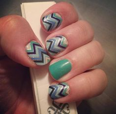 Jamberry nail wraps - Everything Nice and Emerald. Buy 3 sheets of wraps, get 1 free! Click the image to order! http://melissamccormick.jamberrynails.net