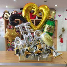 #TeAmo al estilo ✨ #JoliandGift - joliandgift Balloon Box, Balloon Gift, Balloon Bouquet, Balloon Arrangements, Balloon Decorations, Birthday Party Decorations, Happy Birthday Gifts, Boy Birthday, Gift Wrapping Bows