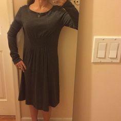 Ann Taylor Gray Dress. Long Sleeve
