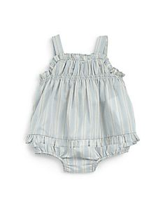 Infant's+Striped+Tunic+&+Bloomers+Set