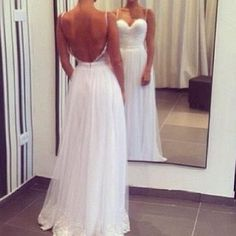 Simple wedding dress.