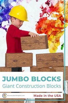 Jumbo building blocks are giant, open-ended cardboard building blocks that fuel your child's curiosity, discovery, and imagination. Our giant building blocks are durable and solidly constructed, perfect for building castles, forts, towers, or whatever your child can imagine. With their softer surfaces, these jumbo blocks are a snap to handle and manipulate. Channel your inner explorer and together build the fort of your child's dreams today! #DiscoveryBuildingSets #jumboblocks #openendedplay Cardboard Building Blocks, Giant Building Blocks, Blocks For Toddlers, Block Play, Interactive Toys, Creative Play, Forts, Toddler Toys, Quality Time
