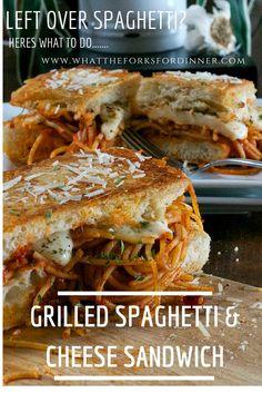 Left over spaghetti......do we have an idea for you......www.whattheforksfordinner.com