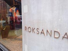 Roksanda shop - London Oct. 2014 #Toscanini #hangers