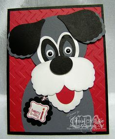 Stampin' Up! Blossom Petal Punch Art by Chris A at * Luv 2 Cre8 With U! *: Dog Punch Art For Birthday
