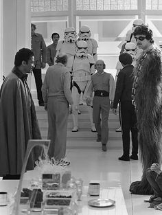 That time Chewie got a shave & hair cut on Cloud City.
