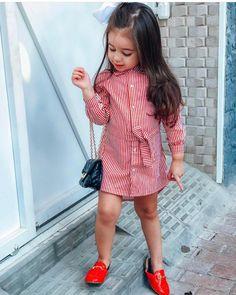 s Clothing Children' Newborn Girl Outfits, Little Girl Outfits, Kids Outfits, Girls Fashion Clothes, Baby Girl Fashion, Kids Fashion, Kids Dress Wear, Dresses Kids Girl, Baby Dress Design