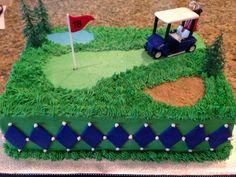 Golf themed grooms cake