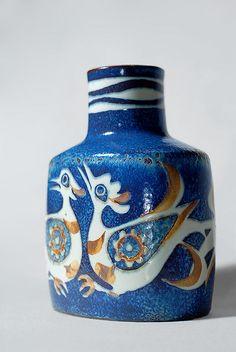 """Nils Thorsson vase for Royal Copenhagen, 1975-1979 (Denmark). part of the """"Bacca"""" series"""
