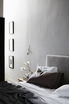 grey and serene bedroom idea.