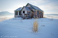 The old school house in Swan Valley sits atop a little rise on a chilly Idaho morning.