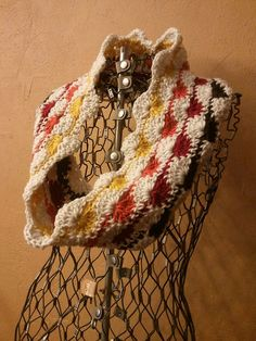 Autumn Leaves Cowl Infinity Scarf by HandMeDownTalents on Etsy, $32.00