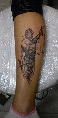 Tattoo by Grga  Lady Justice