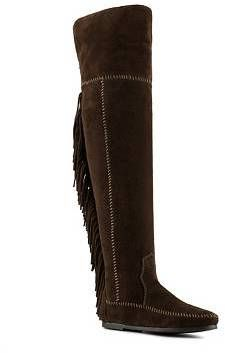 Minnetonka Fringe Flat Boot on shopstyle.com Flat Boots, Riding Boots, High Heels, Flats, Clothes, Shoes, Fashion, Horse Riding Boots, Loafers & Slip Ons