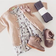 So in love with this outfit FUB cardigan - Wheat kjole - Angulus sko - MP strømper