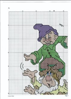 Disney Cross Stitch Patterns, Cross Stitch For Kids, Counted Cross Stitch Patterns, Cross Stitch Charts, Needlepoint Stitches, Needlework, Disney Princess Movies, Swedish Weaving, Baby Afghans
