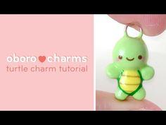 Kawaii Turtle Charm polymer clay tutorial