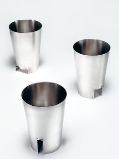 """""""Bower Beakers"""" by Heather O'connor. Sterling silver."""