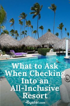2018 Punta Cana Seasoned travelers with more than a few all-inclusive stays under their belt know that the check-in process is the best opportunity to get things straight. Here are six things to ask for at the very onset of your vacation. Punta Cana Vacations, Cancun Vacation, All Inclusive Vacations, Caribbean Vacations, Vacation Places, Vacation Trips, Dream Vacations, Vacation Spots, Punta Cana Excursions
