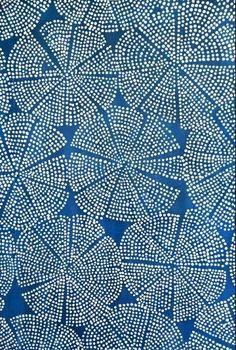 Blue Dot Sea Flower by Luli Sanchez