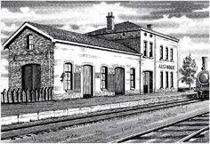 Computertekeningen station (Aalst-Waalre, 1920).