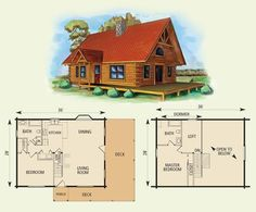Small Log Cabin Floor Plans | One of faves. Morgan log home and log cabin floor plan | Small Houses
