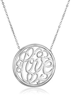 Moonlight Collections Claire Necklace Name Necklace Sterling Silver